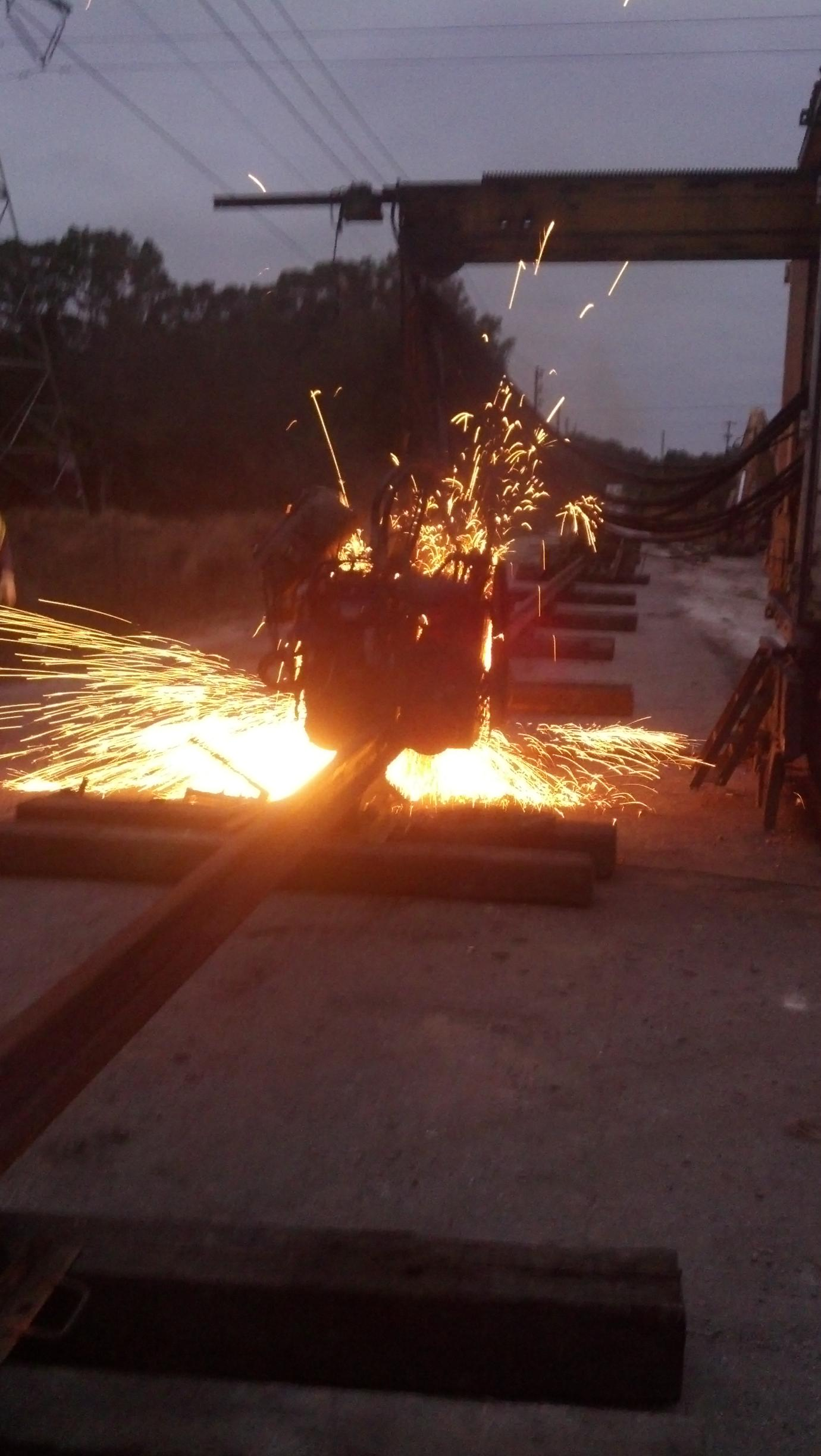 image of crane rail welding