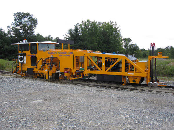 image of Southern National Track's Mark IV Tamper roadbed grading equipment