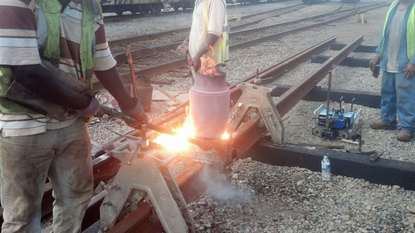image of railroad welding